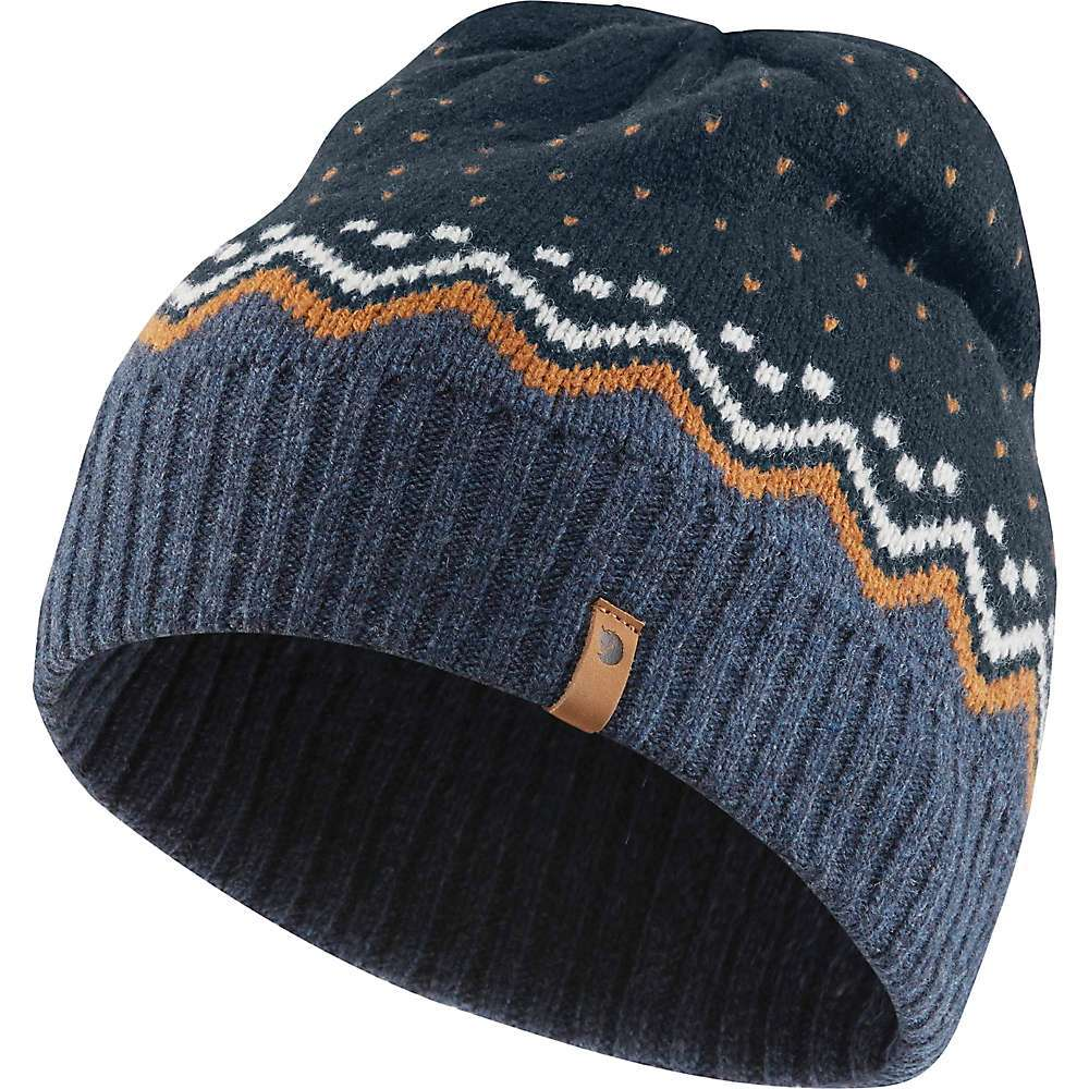 Features of the Fjallraven Ovik Knit Hat Jacquard-knitted hat in soft, traceable wool Pattern inspired by the popular Ovik Knit Sweater Rib-knitted edge Folded leather logo at the side Fabric Details 100% Wool - $34.95