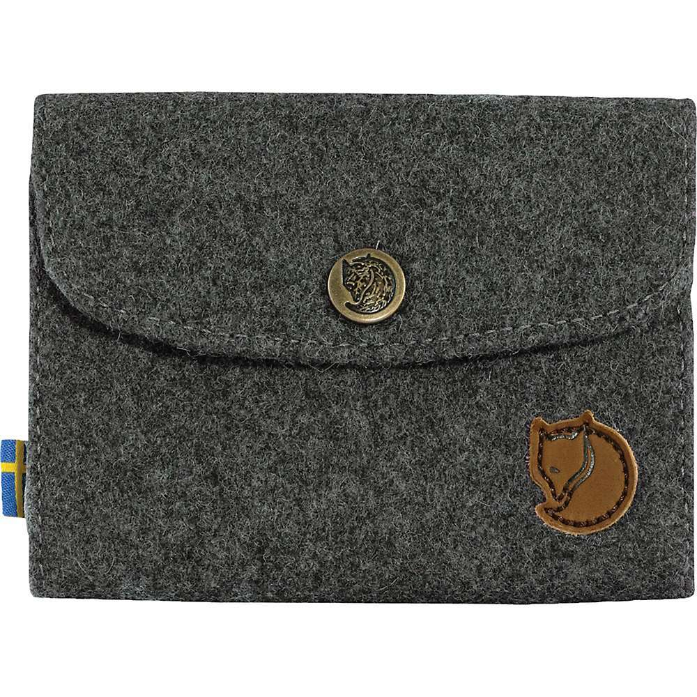 Features of the Fjallraven Norrvage Wallet Timeless wallet in Melton fabric made from recycled wool Made with a traditional Technique that turns spill from the wool textile industry into a High-quality material Room for several cards and folded bank notes Zippered outside coin compartment Lining in G-1ooo Eco Fold-down lid with press button closure - $54.95