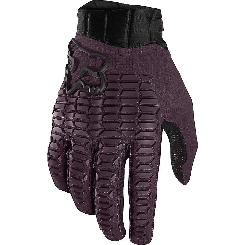 Features of the Fox Men's Defend Glove 4-Way stretch polyester construction Single layer clarino palm with strategically placed perforations Stretch mesh finger gussets for improved airflow and movement Compression molded cuff for secure Fit Trufeel internal TPR knobbies direct injected at fingertips Conductive clarino palm for touchscreen compatibility Fabric Details 40% Nylon Cordura, 28% Nylon 66, 20% Pet, 12% Spandex - $35.95