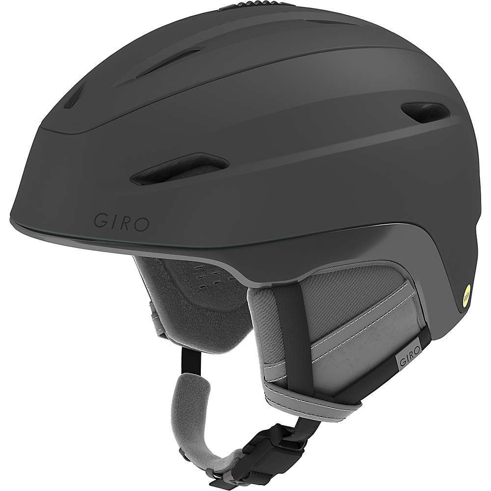 Features of the Giro Women's Strata MIPS Snow Helmet MIPS equipped Hybrid construction Durable hard shell ventilated Upper Lightweight, in-mold lower and sidewalls Low profile design Thermostat control adjustable venting Stack ventilation Women's styling and details POV camera mount FidlockA(R) magnetic buckle closure - $219.95