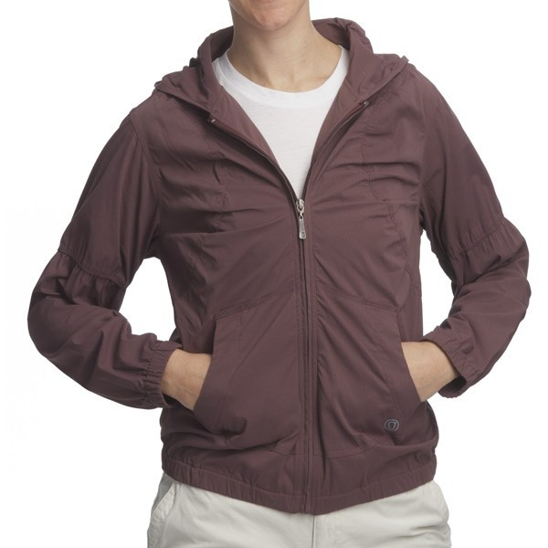 CLOSEOUTS . Gramicci's Raven Morgandy ripstop stretch jacket offers go-anywhere versatility in a lightweight, weather-resisting package. Along with its easy style, this jacket features two-way stretch Morgandy Ripstop fabric, which resists wind and water, and provides UV-blocking UPF 30 sun protection. Available Colors: HUCKLE BERRY, JET BLACK. Sizes: XS, S, M, L, XL, XXS. - $13.79