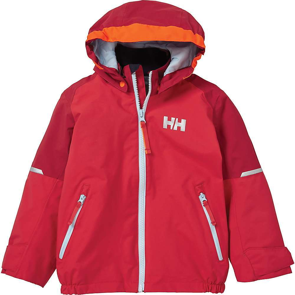 Features of the Helly Hansen Kid's Shelter Jacket Waterproof and breathable jacket is an all-weather protection winner HELLY Tech Performance fabric Waterproof, windproof and breathable Fully seam sealed Durable water repellency treatment Lined for comfort Hi vis / neon hood for extra visibility Brushed tricot inside collar and chin guard Detachable and partly elasticated hood YKK front zip closure with back storm flap Hand pockets with YKK zipper Reflective elements Articulated sleeves for optimal mobility Adjustable cuffs YKK quality zippers Printed reflective HH logo Fabric Details 100% Polyamide - $99.95