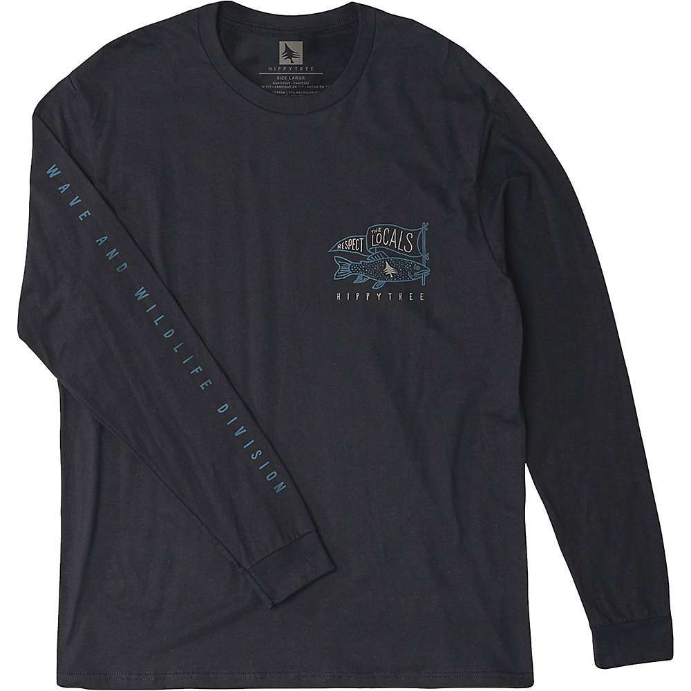 Features of the HippyTree Men's Locals Long Sleeve Tee Fine jersey long sleeve tee Waterbase ink screen print on front, back and sleeve Tagless interior neck screen Fabric Details 100% Cotton - $35.95