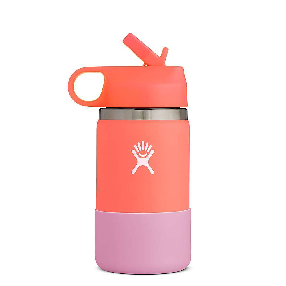 Features of the Hydro Flask 12oz Kids' Wide Mouth Convenient smaller size ideal for kids Flex Boot for added protection and easy grip for smaller hands Easy to clean Easy sip Straw Lid TempShieldG?? Insulation keeps your drinks cold for 24 hours Durable 18/8 Pro-Grade Stainless Steel construction Unique Color LastG?? powder coat for non-slip grip and lasting color BPA-Free and Phthalate-Free Not to be used with hot liquids Dishwasher safe Lifetime Warranty - $29.95