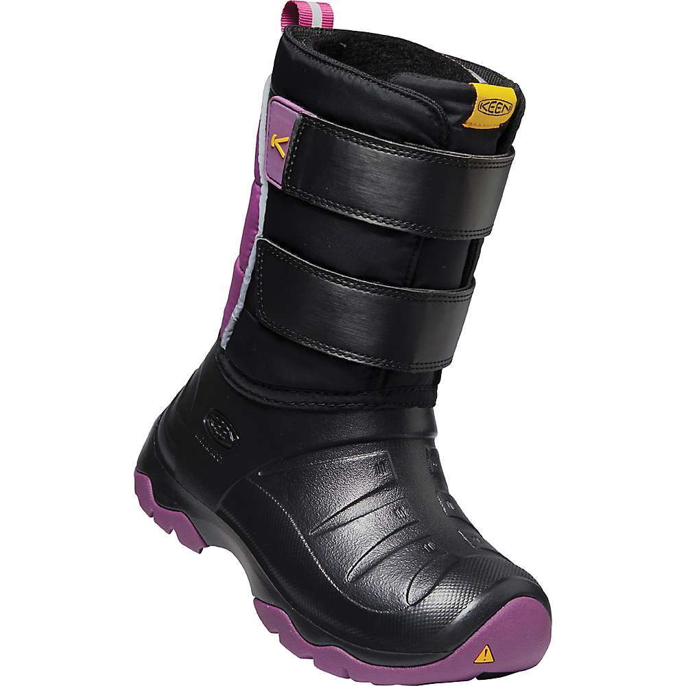 Features of the KEEN Youth Lumi II Waterproof Boot Ultra-lightweight, waterproof and washable High-quality injected EVA Adjustable hook-and-loop straps for a secure Fit Injected EVA Midsole for surprisingly lightweight Fit and feel Keen. freeze rubber Outsole for traction in cold conditions Keen.warm Insulation rated to -40AdegF/-40AdegC Eco anti-odor for natural odor control Wide opening and heel pull for easy on - $69.95