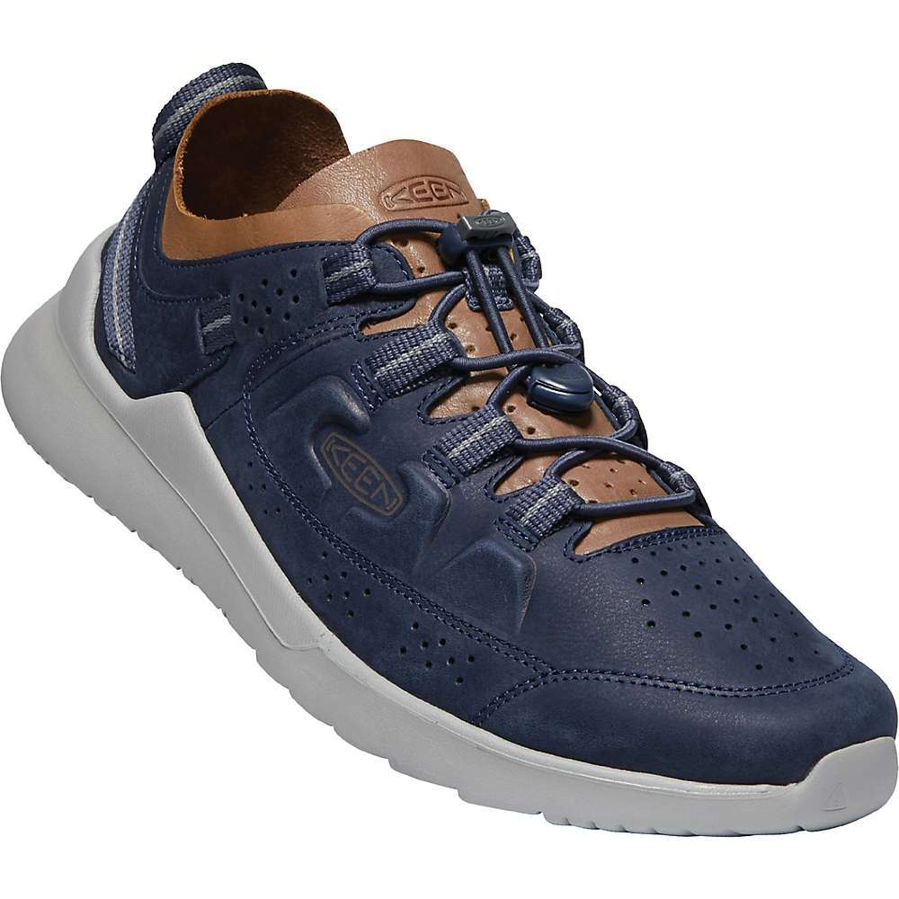Features of the KEEN Men's Highland WP Shoe Waterproof, premium leather Upper Lace-lock bungee system Removable luftcell PU insole for long-lasting comfort High-rebound EVA Midsole Abrasion-resistant EVA Outsole Keen. dry waterproof, breathable membrane Eco anti-odor for natural odor control Environmentally preferred premium leather from LWG-certified tannery - $139.95