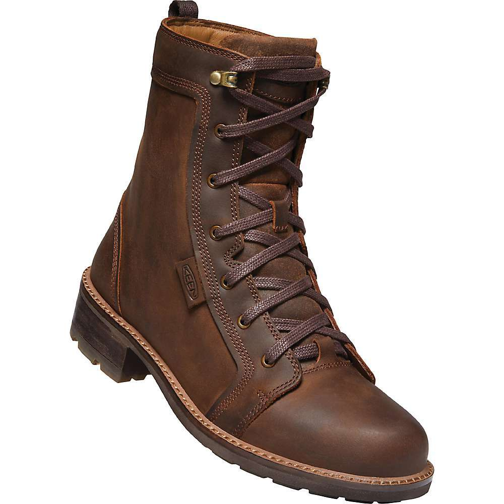 Features of the KEEN Women's Oregon City Boot Premium leather Upper Rich leather lining for soft comfort PU insole with arch support for long-lasting comfort Direct-attach, air-injected Luftcell PU Midsole for long-lasting cushioning Higher-traction TPU Outsole for lightweight durability Eco anti-odor for natural odor control Environmentally preferred premium leather from LWG-certified tannery - $179.95