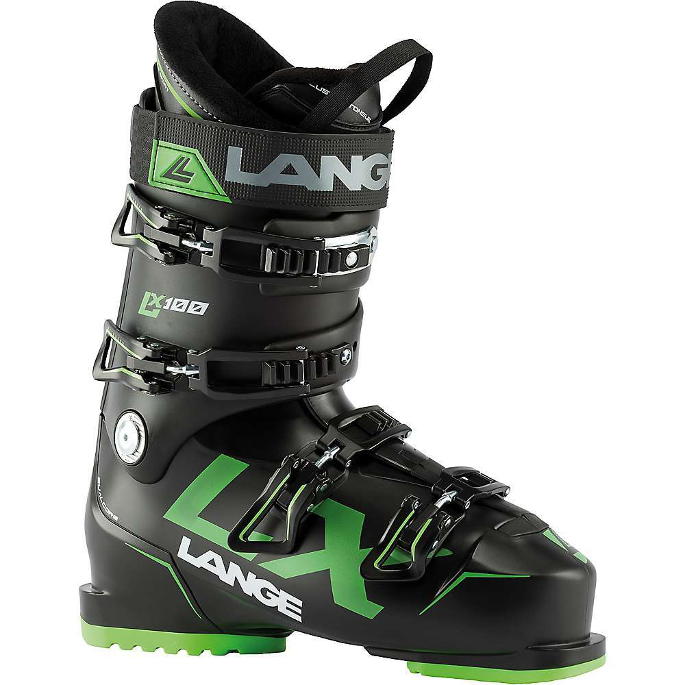 Features of the Lange LX 100 Ski Boot All-mountain piste Luxurious Fit, Light Weight, Legendary Performance Expands Lange's in. Choose Your Fitin. concept to 102mm, ensuring skiers with wider feet no longer sacrifice comfort for real-deal Performance Combines a more relaxed and luxurious in.out-of-the-boxin. Fit with easy entry-and-exit for all day comfort Innovative, light weight Dual Core construction ensures the most efficient, powerful, and precise skiing so you can Be One with your boots Dual Core Light shell: As you drive and flex into your boots, Dual Core Light actively compresses and expands, harnessing potential energy to deliver explosive power, snap, and rebound. Imagine lightweight precision and response, easy entry-and-exit, and a new level of ski boot Performance as reactive and dynamic as your own body. Dual 3D Liner Sport: Pre-shaped to match the inner shell for the most precise and accurate power transmission, and around the foot for the most comfortable anatomic Fit. 60% customizable (shin, ankle, instep, toe box) with low-Density foam integrated in key Fit zones for enhanced comfort and support. Easy Step Insert: A softer plastic insert molded over the instep Area that allows easier opening of the boot overlap for more comfortable entry and exit Comfort Fit: Provides a wider, more forgiving 102mm last designed for skiers with High volume feet or skiers seeking all-day comfort without sacrificing Performance Natural Stance: Compliments modern ski designs, offering a lower ramp angle 4? and more neutral, upright stance to increase balance and control for more efficient power transfer and less quad fatigue Specifications Last: 102 mm Flex: 120 Shell - Lyftran Dual Core, plastic bootBoard Liner - Power wedge tongue, 40mm power strap, Dual 3D Sport Liner Cuff - Polyolefin Buckles - ALU Race, 1 Quick Macro Ratchet Soles - Mono-material soles, GRIPWALKA(R) compatible Canting - External Screw - $399.95