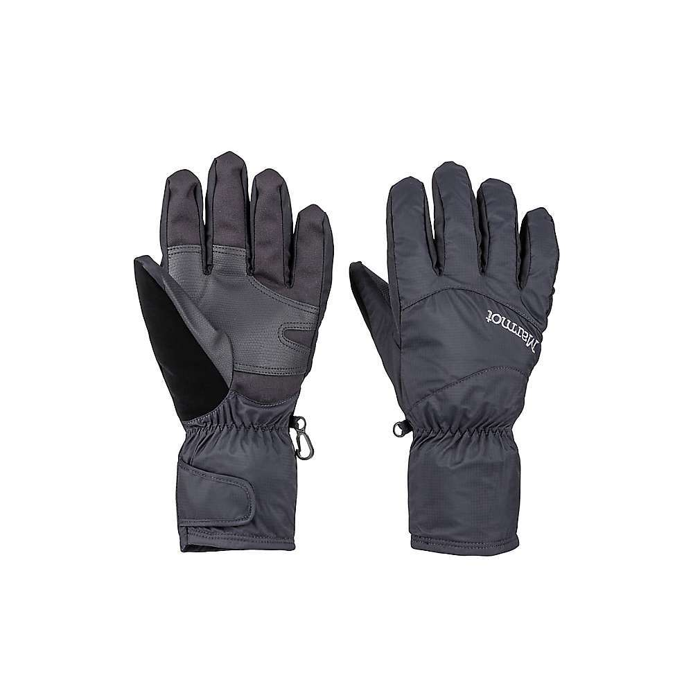 Features of the Marmot PreCip Eco Undercuff Glove Marmot membrain waterproof/ breathable insert Driclime bi-component wicking lining Falcon grip Packable Nose wipe Velcro closure Fabric Details 100% Recycled nylon ripstop - $90.00