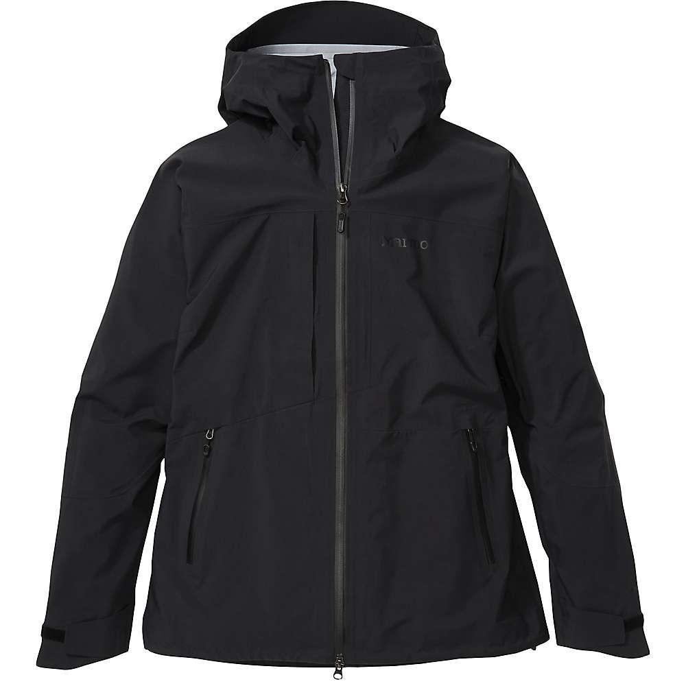 Features of the Marmot Women's Huntley Jacket Gore-TEX Guaranteed to Keep You Dry. 100% Seam-taped for complete leak-proof protection Helmet-compatible hood with peripheral cord adjustment Two-way, waterresistant, center-front zipper with snap bottom Water-resistant hand pockets Zippered chest pocket Articulated elbows Drawcord adjustable hem Adjustable VELCRO cuffs Fabric Details Gore-TEX Products 3 liter with Cknit Technology 100% Nylon Plain Weave - $451.95