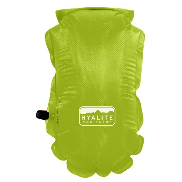 CLOSEOUTS . Hyalite Equipmentand#39;s LTW Pneumo dry bag is a lightweight, waterproof compression bag that makes compact packing a cinch. Available Colors: BLACK, SOLAR ORANGE, TENDER SHOOTS. - $19.95