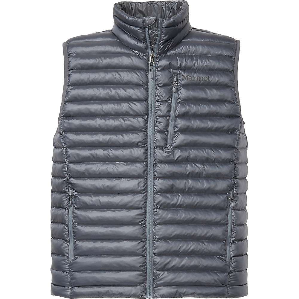 Features of the Marmot Men's Avant Featherless Vest 20 Denier woven baffle construction 3M Thinsulate featherless Insulation Zippered hand pockets Zippered chest pocket Drawcord adjustable hem Fabric Details 100% Nylon prebaffle plain weave heather - $174.95