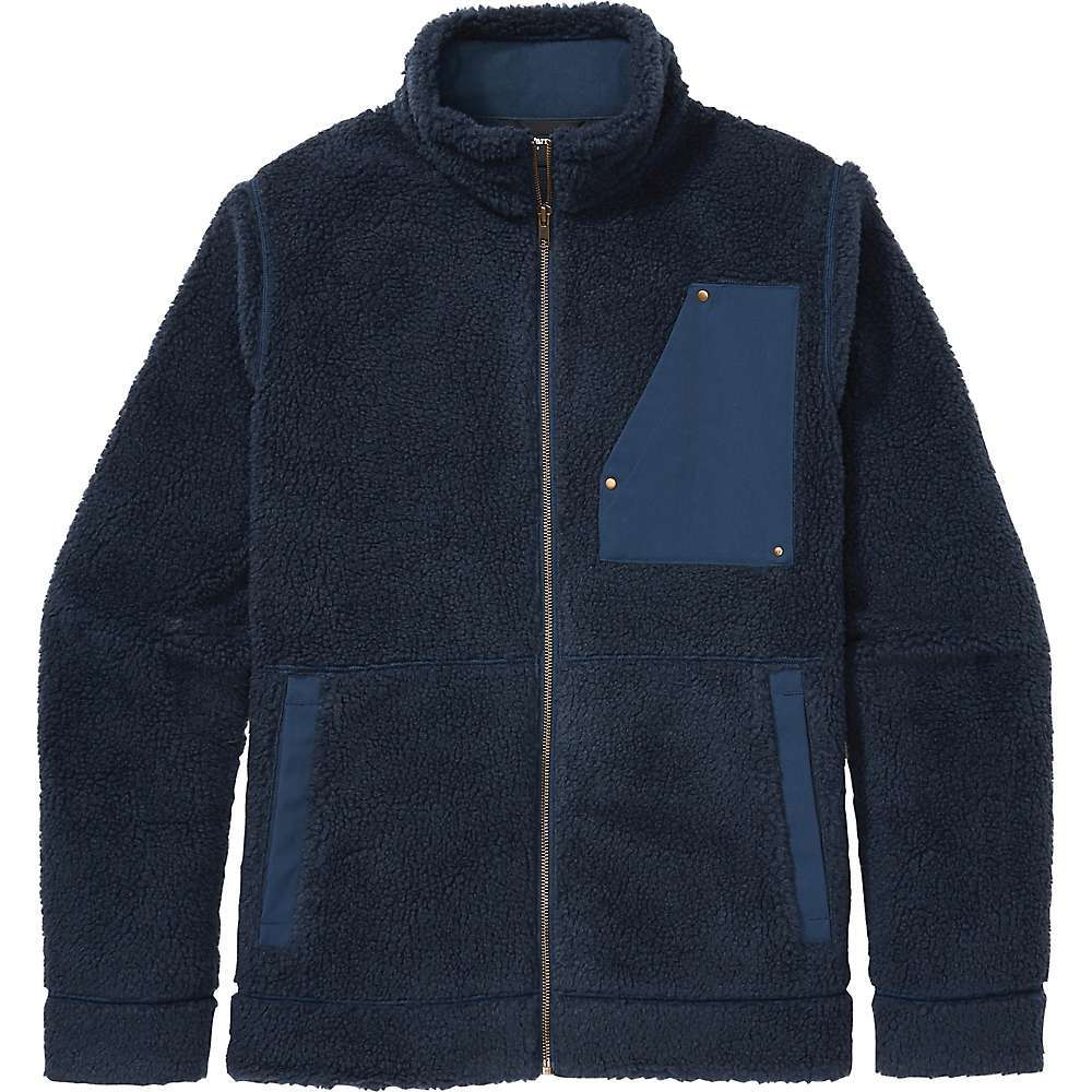 Features of the Marmot Men's Larson Jacket High-pile shearling fleece for warmth and style Quick-drying polyester for minimal heat loss Waxed nylon chest and front pockets Forward shoulder seam for comfort Straight hem Fabric Details 52% Acrylic, 48% Polyester Sherpa Knit - $124.95