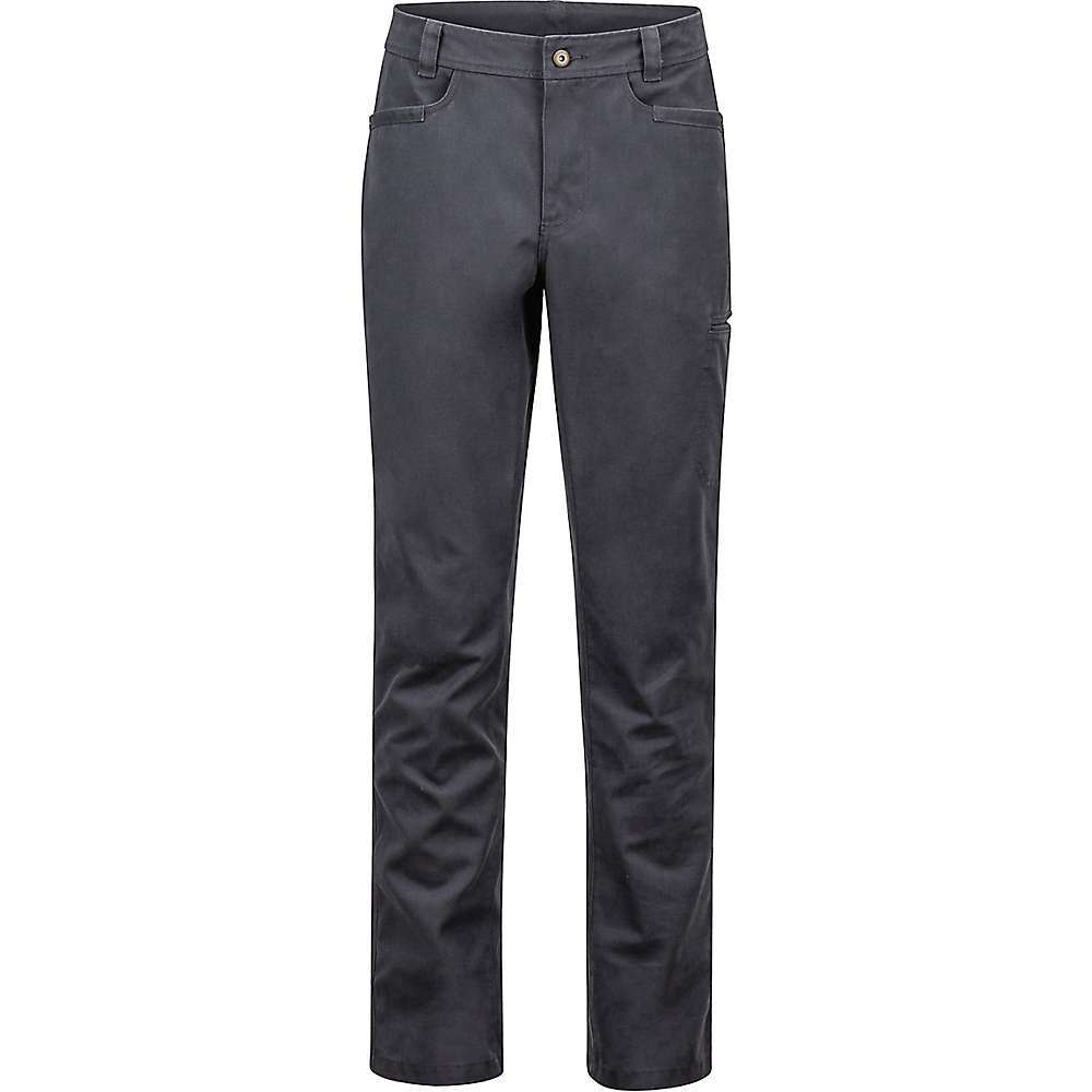 Features of the Marmot Men's Risdon Pant Midweight, breathable Performance stretch cotton/Polyester blend Ultraviolet protection factor (UPF) 50 Marmot upcycle product with recycled Polyester from post-consumer plastic bottles Blend of cotton and Polyester for comfort and Performance Inseam gusset for increased range of motion Side drop in pocket Reinforcement at front hand pockets Fabric Details 65% Cotton, 35% Recycled Polyester - $84.95