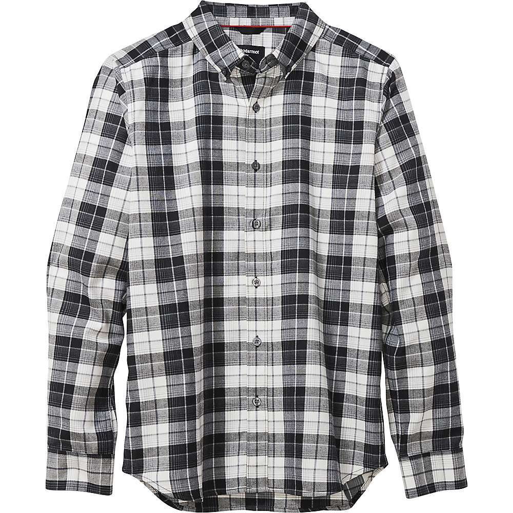Features of the Marmot Men's Harkins Lightweight Flannel Long Sleeve Shirt Marmot UpCycle product made with postconsumer recycled materials Sun protection with an ultraviolet protection factor (UPF) of 30 Lightweight Performance double brushed flannel for added comfort Polyester for quick-drying and wicking Flat-felled seams for reduced abrasion and added durability Fabric Details 57% Cotton, 43% Recycled Polyester Lightweight Twill Weave - $59.95