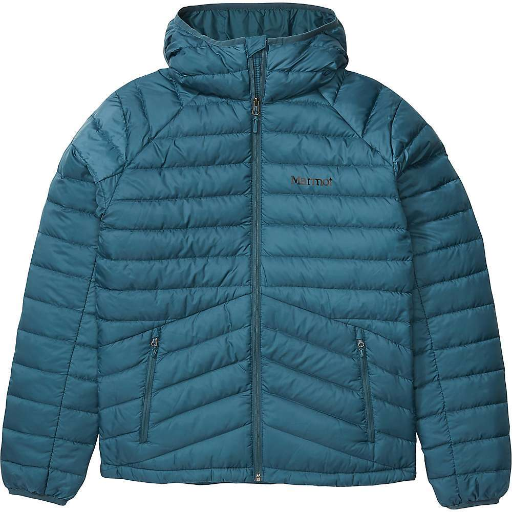 The Marmot Men's Highlander Down Hoody is a down insulated puffer jacket made to keep you comfortable through the cold months. The 700-fill Down Defender down is lightweight, compressible, and treated with DWR to shed heat-robbing moisture. Low-profile elastic binding around the hood and cuffs help seal out the wind and maintain warmth. Features of the Marmot Men's Highlander Down Hoody Pertex quantum 700-Fill power down with down defender Attached hood with elastic binding Straight hem Zippered hand pockets Elastic bound cuffs Fabric Details 100% Recycled Polyester mini ripstop - $239.95