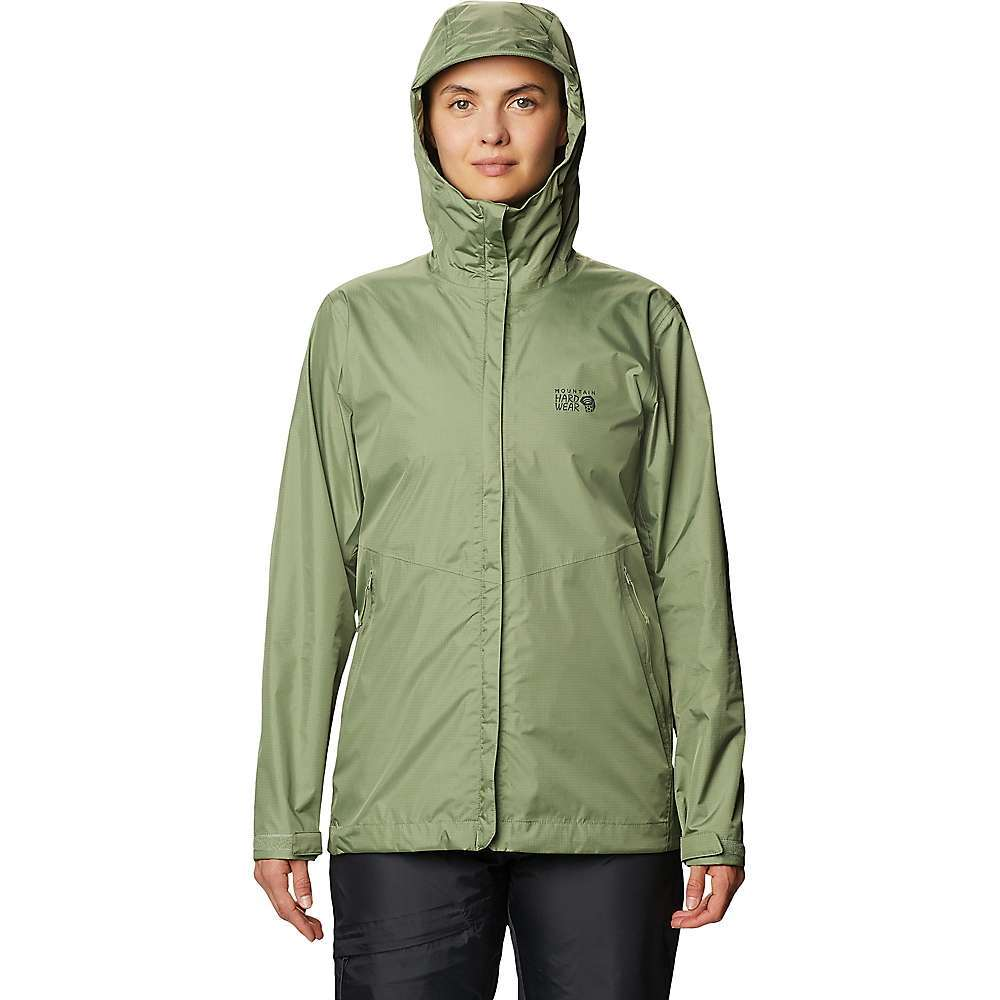 The Mountain Hardwear Women's Acadia Jacket is a lightweight rain jacket for wet weather. Stash it when it's sunny and wear it when the skies open up. The shell is made from 100%; recycled nylon and pit zips open under the arms to release heat when the hike builds up too much warmth. Adjust the hood, zip a couple candies into the hand pockets and take in nature, even if it is a little soaked out there. Features of the Mountain Hardwear Women's Acadia Jacket 100% recycled nylon shell fabric Two zippered hand pockets Storm flap over center front zip Pit zips expel heat where and when you need it Adjustable hood Fabric Details: Recycled 2.5L Ripstop (100% Recycled Nylon) - $120.00