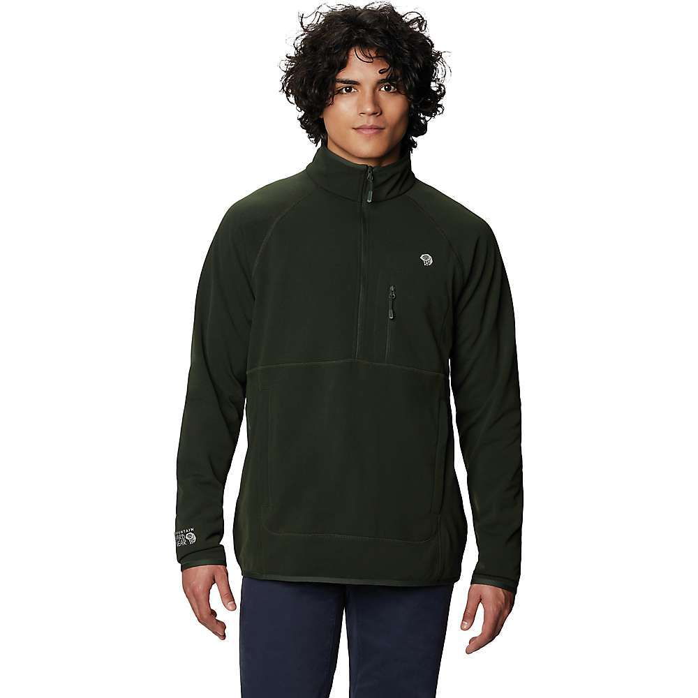 The Mountain Hardwear Men's Norse Peak Half Zip Pullover is a lightweight fleece for the cool moments at camp. Early mornings firing up the stove for a fresh mug of coffee, or late at night, laughing around the firepit and discussing the day's adventure with your pals. The textured fleece is 100%; polyester, soft against the skin and breathable. If you're wearing it out on the trail, or just as the day is beginning to warm up or cool down, the 1/2 zip at the front regulates temperature by quickly dumping heat or closing it off from the breeze. Features of the Mountain Hardwear Men's Norse Peak Half Zip Pullover Front half-zip closure Two zippered hand pockets Secure chest pocket Fabric Details 100% Polyester - $85.00