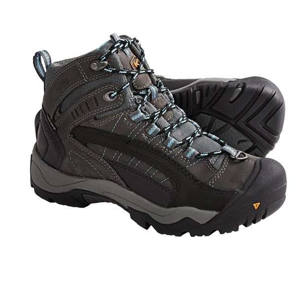 Camp and Hike CLOSEOUTS . Warm, dry and incredibly supportive, you'll revel in fierce winter conditions while wearing Keen's Revel winter boots. 200g KEEN.WARM insulation and three layers of heat trapping materials underfoot prevent frigid feet in the woods or while shoveling driveway snowdrifts. Available Colors: BLACK/TAWNY OLIVE, GARGOYLE/AZURE BLUE. Sizes: 5, 5.5, 6, 7, 8, 9, 10, 6.5, 7.5, 8.5. - $30.95