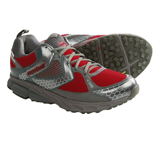 Fitness CLOSEOUTS . With a waterproof breathable membrane and pronation-controlling FluidPost midsole, Montrailand#39;s Fairhaven OutDryand#174; trail running shoes have all the performance features of a running shoe with the added protection features of a hiking boot. Available Colors: RED/GRILL. Sizes: 7, 7.5, 8, 8.5, 9, 9.5, 10, 10.5, 11, 11.5, 12, 12.5, 13, 14, 15. - $99.95