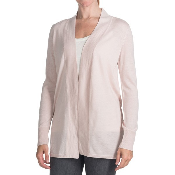 CLOSEOUTS . A study in elegant simplicity, Odeon by Belfordand#39;s merino wool cardigan sweater drapes your figure in superlative merino wool -- knit from fine-gauge yarns for wear in virtually any season. Available Colors: PINK. Sizes: XS, S, M, L, XL. - $59.95