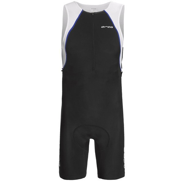 CLOSEOUTS . Purposed for short-to-intermediate distance racing and training, Orca's Equip Tri race suit features durable, hydrodynamic Equip-Tec fabric for fast swim splits and maximum comfort while biking and running. Available Colors: BLACK/RED, BLACK/WHITE, BLACK/BLUE. Sizes: XS, S, M, L, XL, 2XL. - $77.95