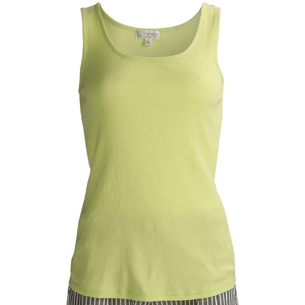 CLOSEOUTS . P.J. Salvage's Summer Separates Rib tank top ups the cozy ante with touchable cotton-modal fabric in a classic ribbed design. Available Colors: PINK, LIME. Sizes: S, M, L. - $6.23