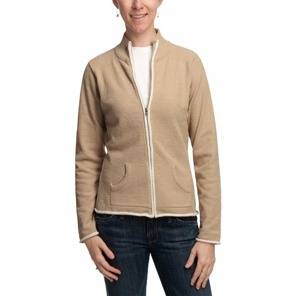CLOSEOUTS . It's no wonder you want to curl up in this cozy jacket from Plush by Colorado Clothing; its oh-so-soft, chenille-like fleece feels amazing and lends an equally soft finish to your look. Available Colors: SESAME, BLACK. Sizes: S, M, L. - $21.95