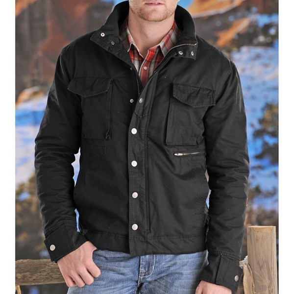 CLOSEOUTS . For the bustling rancher, Powder River Outfitters' Wilkes twill coat is made of durable cotton twill, crafted with reinforced stitching, low-bulk insulation and ample pocket space. Available Colors: BLACK, CAMEL, DARK BROWN, TAN, MUD. Sizes: S, M, L, XL, 2XL. - $99.95