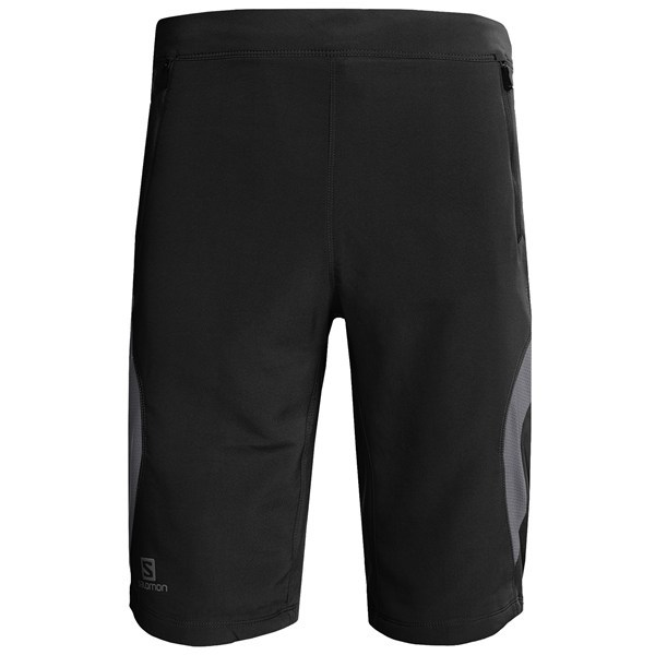Fitness CLOSEOUTS . Ready for adventure, Salomonand#39;s Float shorts tear up trails in hot weather with moisture-wicking, quick-drying ActiLite fabric, ventilating mesh side panels and UPF 50+ sun protection. Available Colors: BLACK/DARK CLOUD, DARK CLOUD/ORGANIC GREEN. Sizes: S, M, L, XL, 2XL. - $42.95