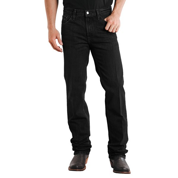 CLOSEOUTS . Stetson's slim fit straight-leg denim jeans are for the western man looking to wrangle in an updated look. These rugged denim jeans are given a classic stonewash rinse, and are fitted with Stetson's signature stitching and rivet details. Available Colors: BLACK RINSE, STONE WASH, DARK DESTRUCTION, DARK BLUE, DESTRESS STONE. Sizes: 26, 27, 28, 29, 30, 31, 32, 33, 34, 35, 36, 38, 40, 42, 44. - $27.95