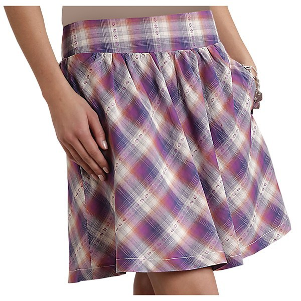 CLOSEOUTS . Every cowgirl needs clothing thatand#39;s both flattering and functional, and Stetsonand#39;s dobby plaid skirt delivers with sweetly stitched flowers and on-seam hand pockets. Available Colors: PURPLE. Sizes: XS, S, M, L, XL, 1X, 2XS. - $12.95