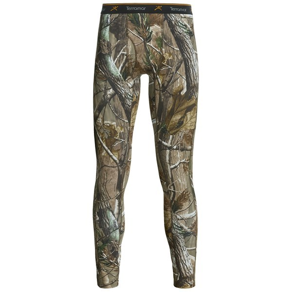 CLOSEOUTS . Worn under pants or with shorts, Terramar Camouflage TXO 2.0 base layer bottoms provide low-profile warmth for long waits in a tree stand and cool days in the field. Available Colors: REALTREE AP. Sizes: S, M, L, XL, 2XL, 3XL. - $31.54
