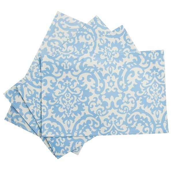 CLOSEOUTS . Get the summer started with Waverlyand#39;s UV-treated, water-repellent placemats, complete with a stain-resistant finish to outlast season after season of picnic adventures. Available Colors: IKAT BLUE DAMASK, CORAL STRIPE, LIME DAMASK. - $7.81