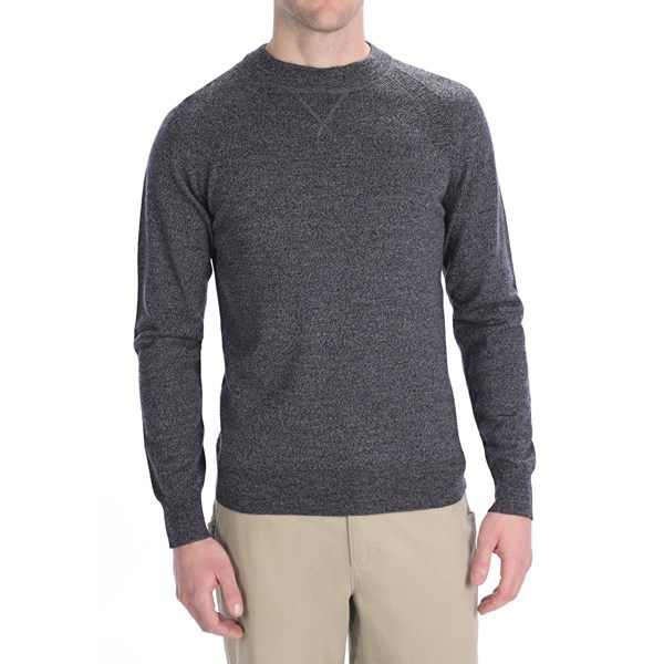 CLOSEOUTS . The design of Woolrich's Moccasin Run sweater may be athletic inspired, but once you feel the soft, itch-free comfort of the merino wool, you'll quickly find this cozy layer works best with casuals for happenings around town. Available Colors: DEEP INDIGO, DARK LODEN, ONYX. Sizes: S, M, L, XL, 2XL. - $22.05
