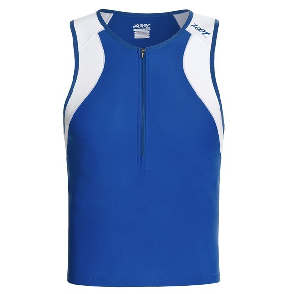 CLOSEOUTS . With four-way stretch for full range of motion and compression fabric to help muscles go that extra mile, Zoot Sports' Endurance tri tank top knows what matters to triathletes. Available Colors: CLASSIC BLUE/WHITE, TRUE RED/BLACK, PURE YELLOW/SHADOW. Sizes: S, M, L, XL, 2XL. - $17.60