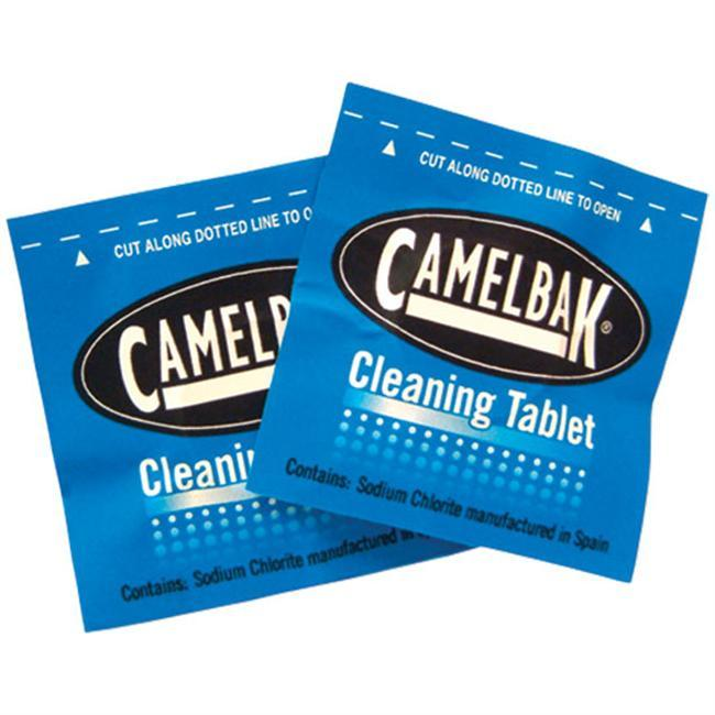 Specially formulated to clean CamelBak Reservoirs, this new cleaning solution reduces tastes and odors via a convenient tablet. The unique foaming action works quickly to remove the dirt and grunge that may build up over long periods of time. Using safe Chlorine Dioxide, each tablet cleans up to a 100 once reservoir. - $12.00