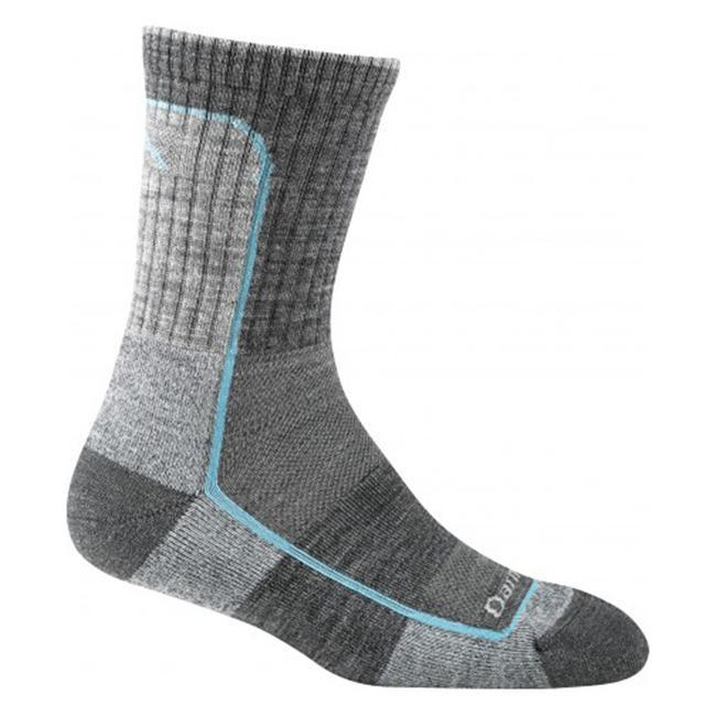 Finally a light cushioned sock thats...darn tough. Perfect for hikers looking for a little less cushioning. True Seamless construction provides a smooth, performance fit to assure theres no slipping, no bunching, and no blisters. With half the wool yarn weight of their cushion socks, Darn Tough's lightweight cushion socks deliver lightweight performance with the perfect amount of cushioning along the base of your foot, while 17.2 Micron Merino Wool deliver supreme comfort. Breathable and fast drying. This all-weather sock stays cool in the summer and warm in the winter plus its naturally antimicrobial so it repels bacteria and odora great feature when you need to get an extra day (or two) out of your socks. Still made in Vermont. Guaranteed for life. - $20.00