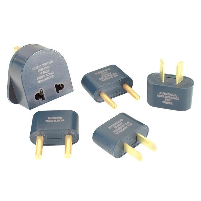 All over the world there are different configurations of wall outlets. Adapter plugs allow you to plug your North American appliances into wall outlets internationally - $14.00