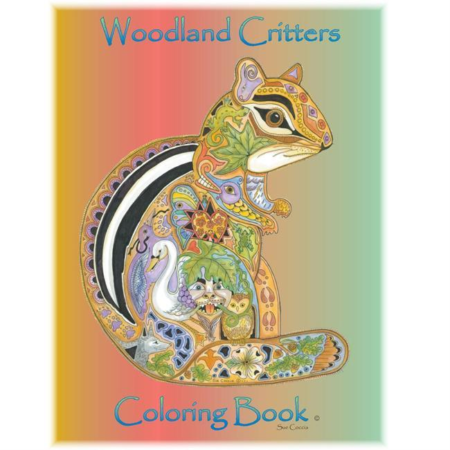 This unique Woodland Critters Coloring Book features fifteen 8.5x11-inch pen and ink images printed on 80# paper. Suitable for watercolor and enjoyable for artists five years old and up. - $14.00