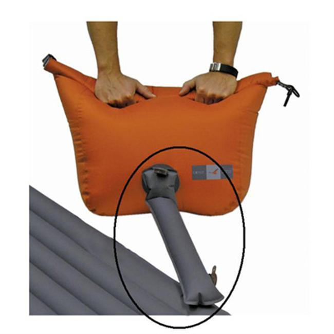The Schnozzel connects Exped packsacks with purge valves to all Exped mats for rapid inflation. - $18.00