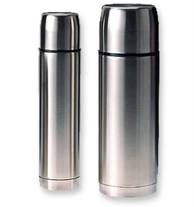 The Glacier Stainless Steel Vacuum Bottles by GSI keep your cocoa, tea or coffee warm for up to eight hours.  Perfect for car camping or keeping you warm at the big game. - $29.95