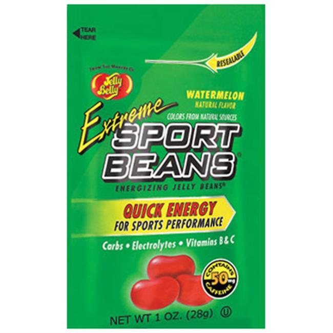 If you need a little extra kick, the Extreme Sport Beans from Jelly Belly feature caffeine.  Whether you're on a trail run or have a long day ahead of you, Extreme Sport Beans are a great companion to your normal workout hydration plan. - $1.25