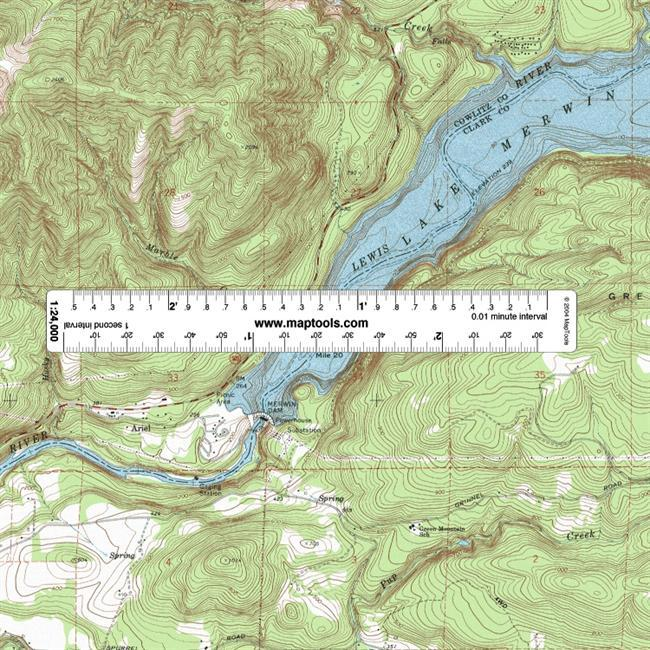 These rulers can be used to measure or plot latitude/longitude coordinates, UTM/MGRS coordinates, and to measure distances in either meters or miles.You will find them useful when you are working with a GPS receiver and paper maps.  The Adventure Set contains the four most common map scales an outdoor adventurer will encounter in the Continental United States. Each ruler is designed for a specific scale map. You must use a ruler that matches the scale of your map.  On the front side, the rulers have minutes and seconds on one edge and decimal minutes on the other edge, allowing you to use either notation. On the back side, the rulers have distance in meters on one edge, and distance in either miles or nautical miles on the other edge. Latitude is measured directly with the ruler. But, since a degree of longitude covers a shorter distance as you move towards the poles, the ruler is used on a diagonal to measure longitude. - $10.95