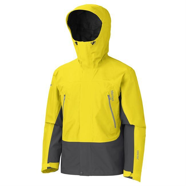 With GORE-TEX fabric and taped seams, the Spire Jacket is guaranteed to keep you dry. Big Mountain features and technologies like PitZips, a gale-force hood with laminated wire brim, zip-off powder skirt and Angel-Wing Movement make this shell perfect for the extreme outdoor enthusiasts. - $400.00