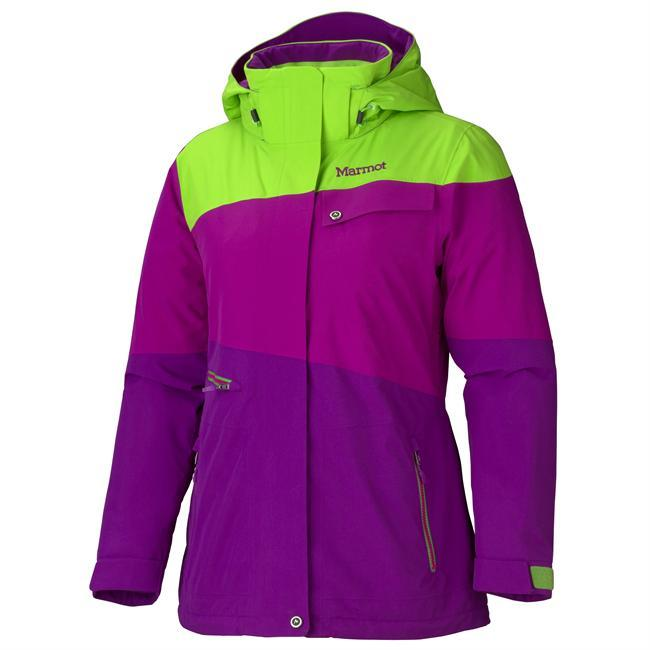 The Moonshot Jacket from Marmot keeps you both warm and dry. Synthetic Thermal R insulation provides needed warmth, while breathable and waterproof MemBrain fabric ensures you stay dry and comfortable. With its big mountain features like a zip-off storm hood, Pitzips, zip-off powder skirt, and goggle pocket, this jacket is meant for cold and snow, and certainly wont let you down when weather conditions get nasty. - $285.00