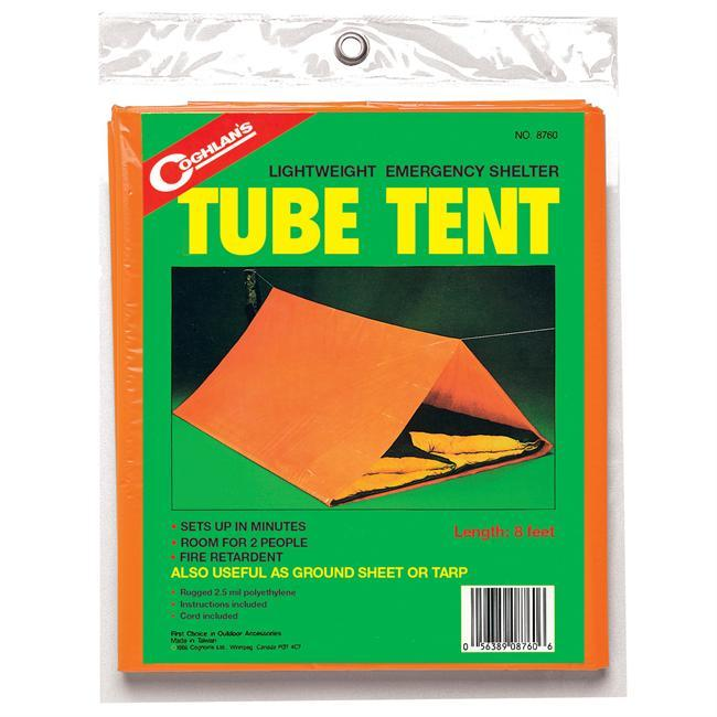 Camp and Hike The Coghlin's Tube Tent is a perfect lightweight emergency shelter. - $7.95