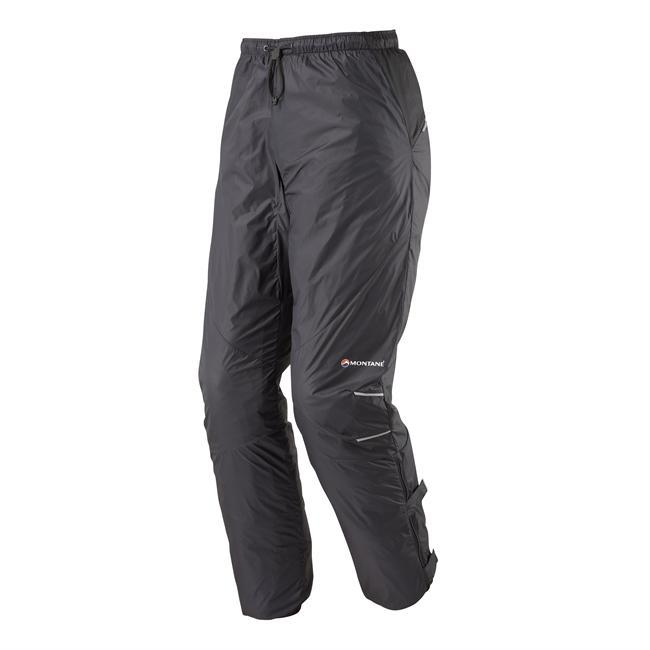 Super-light wind and weather resistant pants to keep away the chill, wind or a light rain. Calf length zips make it possible to put these on over most footwear and can help to keep you cool on a warmer day.  The hook and loop adjustment straps on the calf are one of the best features of this pant - the straps are easy to undo when you are putting the pants on and do a great job of keeping the pants nice a snug so that flapping in the wind is minimized (and also great for use on a bike to keep the pants away from your chain!).  The Featherlight Pants feature 360 degree reflectivity for safety and come with a (tiny) stuff sack. - $89.00