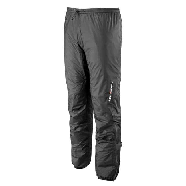 The Minimus Pant is the world's lightest and most breathable waterproof mountain pants. It is exceptionally lightweight rain shell pants. Together with the supreme breathability of PERTEX Shield + theyve become one of the most innovative no compromise waterproof shell garments MONTANE has ever created. - $165.00