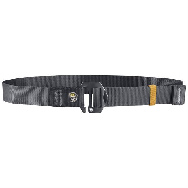 "The Mountain Hardwear Alloy Nut Belt is a nice save when your pants just aren't staying where they're supposed to or your tucked-in shirt is looking a little lame.  With a cool ""nut"" shaped buckle and durable nylon, this belt is sure to keep you on the move and looking good. - $30.00"